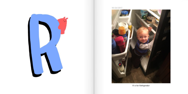 R is for Refrigerator - How to Make a Personalized ABC Photo Book