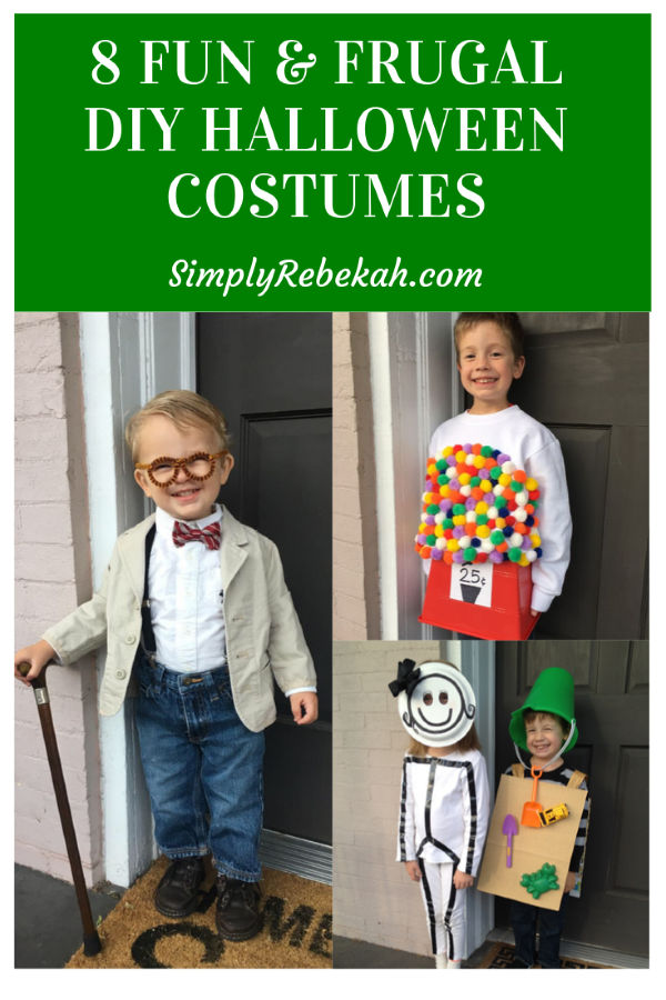 Fun and frugal DIY Halloween Costumes for Kids that anyone can put together!