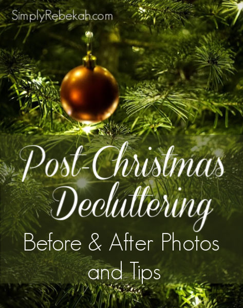 Post-Christmas decluttering is a struggle! Here are some inspiring before & after photos and helpful tips.