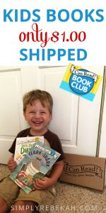 Get kids' books for $1 shipped with the I Can Read Book Club